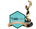AVA Digital Awards Gold Winner logo and statue